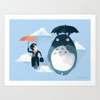 bunny Art Prints featuring The Perfect Neighbor by Anna-Maria Jung