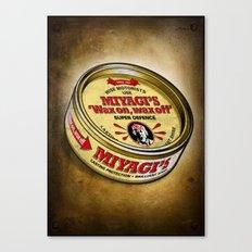 Miyagi's Super Wax Canvas Print