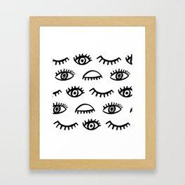 Magic Eyes Framed Art Print