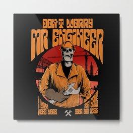Mr Engineer Metal Print