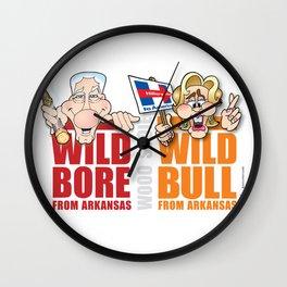 Wild Bill & Hillary Wall Clock