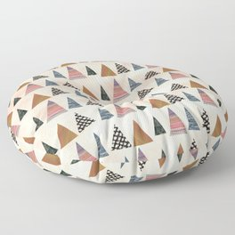 christmas wrapping paper Floor Pillow