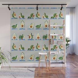 Avocado Yoga Watercolor Wall Mural