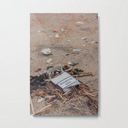Empty Cigarette Box on the Street, A Metal Print