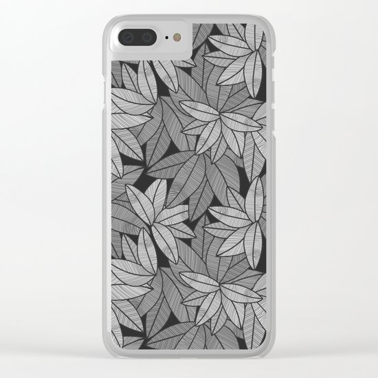 Black & White Leaves By Everett Co Clear iPhone Case