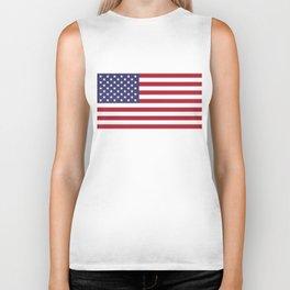 USA flag - Hi Def Authentic color & scale image Biker Tank