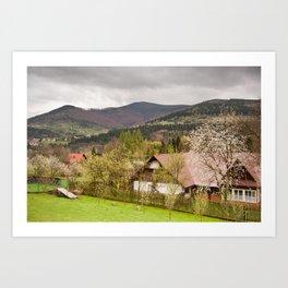 Babia Gora massif view Art Print