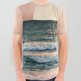 Summer Sunset All Over Graphic Tee