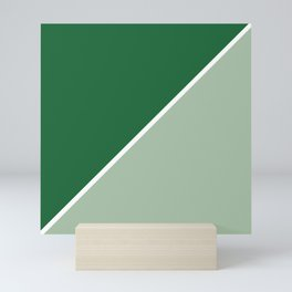 Forest Green and Sage Abstract Mini Art Print