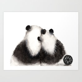 Pandamie Panda Couple Art Print