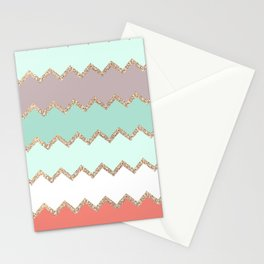 AVALON CORAL MINT Stationery Cards