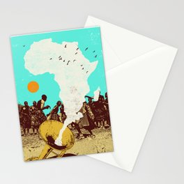 AFRICAN HORN Stationery Cards