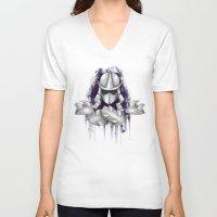 ninja turtle V-neck T-shirts featuring Shredder -Teenage Mutant Ninja Turtle by Roe Mesquita