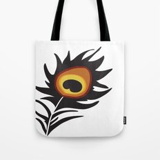 Red Peacock Tote Bag