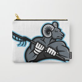 Bighorn Ram Lacrosse Mascot Carry-All Pouch