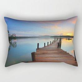 Pier on the Water at Sunset  Rectangular Pillow