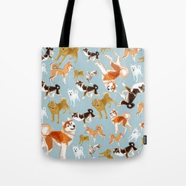 Japanese Dog Breeds Tote Bag