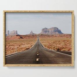 Desert Road Trip V Serving Tray