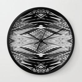 PRETTY BLACK & WHITE LINE PATTERN II Wall Clock
