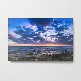 Sunset rock landscape Metal Print