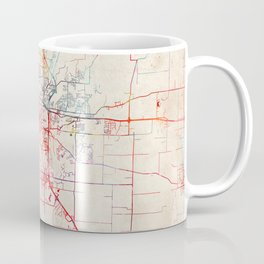 Columbia map Missouri painting Coffee Mug
