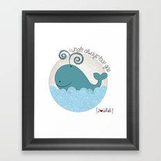 I {❤} Whale Framed Art Print