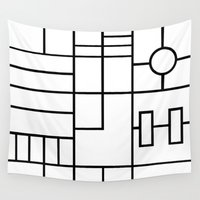 grid Wall Tapestries featuring PS Grid by Project M