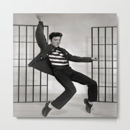 Elvis Presley Jailhouse Rock Photograph- Beautiful & Iconic Poster Print - 1957 Young Elvis - Vintage Movie Promo Shot Metal Print