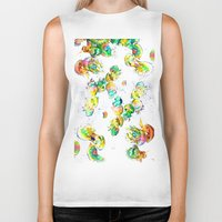 rasta Biker Tanks featuring Rasta Jellies by Heidi Fairwood