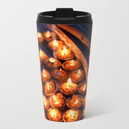 Candles on the Ganges Travel Mug