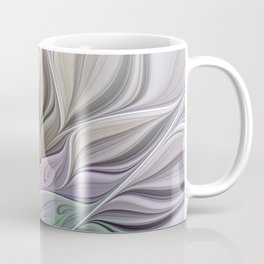 Abstract Flower, Colorful Floral Fractal Art Coffee Mug