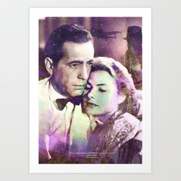 Casablanca | PRINT | Here's looking at you, kid. | Quote | Vintage Style Poster #M44 Art Print