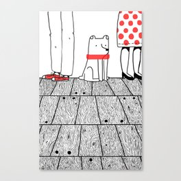 At The Party Canvas Print