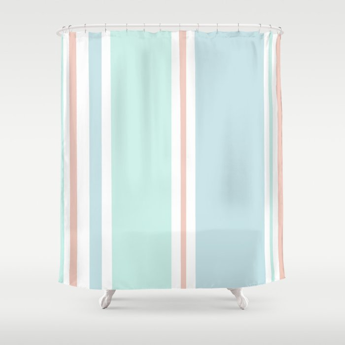 80's Oxford Stripes Shower Curtain