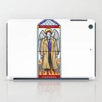 castiel iPad Cases featuring Castiel by Grace Mutton