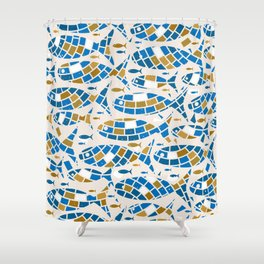 Mosaic Fishes Shower Curtain