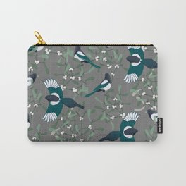Magpies and Mistletoe Carry-All Pouch