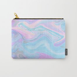 Sea Marble Candy Pattern - Violet, Aqua and Blue Carry-All Pouch