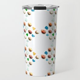 Sea Glass and Sea Shells Travel Mug