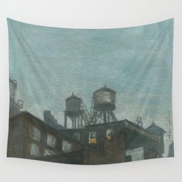 Rain and Rooftops Wall Tapestry