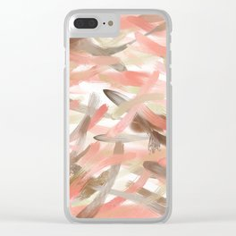 Blush Glow Smudge Clear iPhone Case