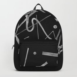 Kandinsky - Black Background Abstract art Backpack