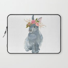 bunny with flower crown Laptop Sleeve
