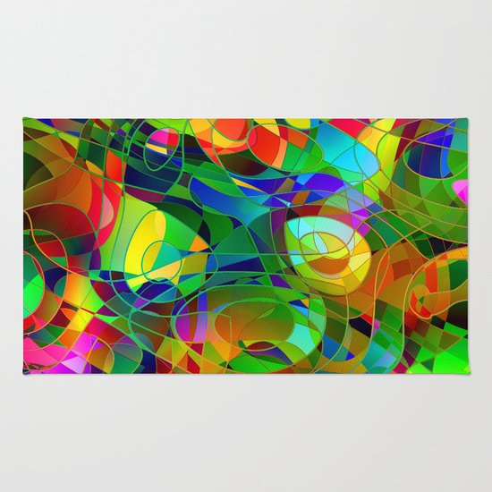 Bouquet Abstract Rug