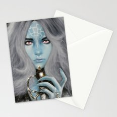Alien warrior girl Stationery Cards