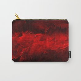 Red And Black Abstract Gothic Glam Chic Carry-All Pouch