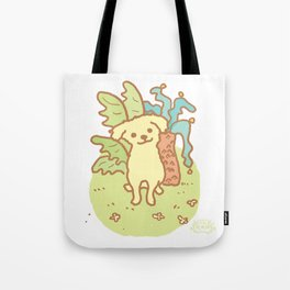 Yellow Puppy Tote Bag