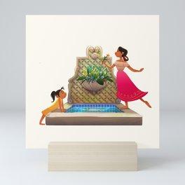 The Broken Fountain Mini Art Print