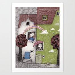 Staying Home (1)  Art Print