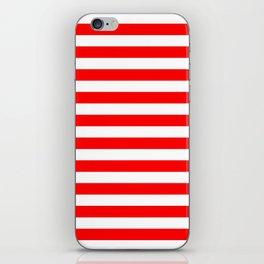 Horizontal Stripes (Red/White) iPhone Skin
